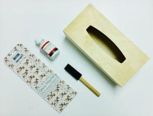 Freubelbox decoupage zakdoekdoos 1