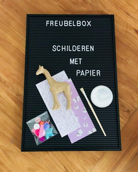 Freubelbox decoupage giraf cc