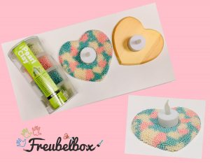 Freubelbox Pearlclay hart theelichtje