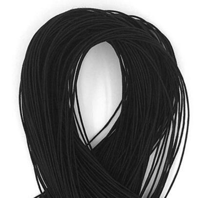 Elastiekkoord 1mmx25m zwart